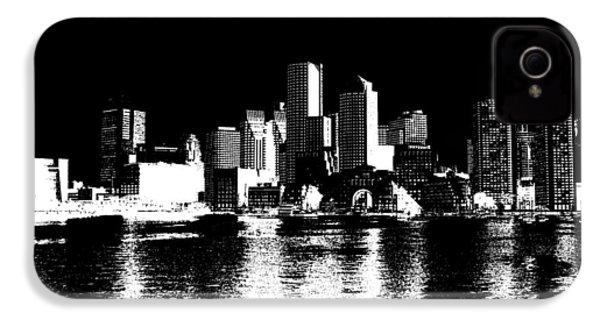 City Of Boston Skyline   IPhone 4s Case by Enki Art