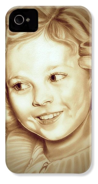 Classic Shirley Temple IPhone 4s Case by Fred Larucci