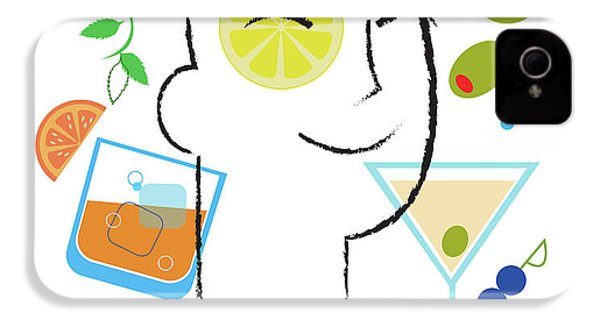 Cocktail Time IPhone 4s Case by Lisa Henderling