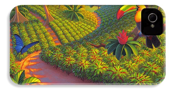 Coffee Plantation IPhone 4s Case by Robin Moline