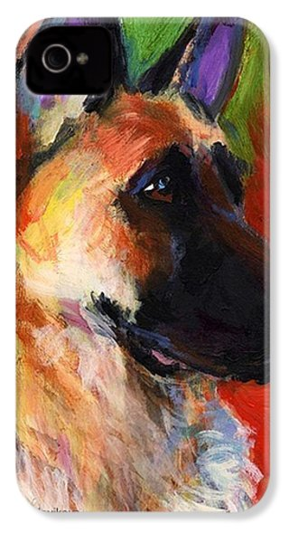 Colorful German Shepherd Painting By IPhone 4s Case
