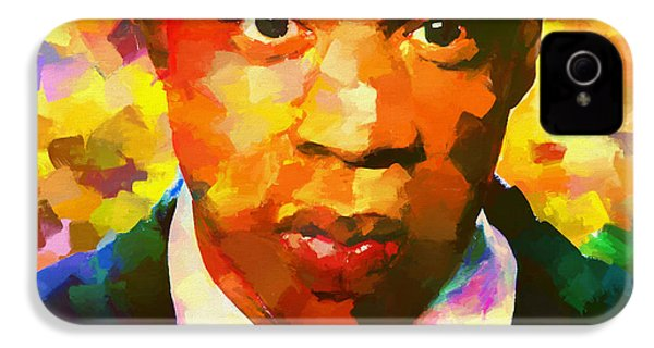 Colorful Jay Z Palette Knife IPhone 4s Case by Dan Sproul