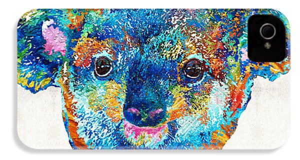 Colorful Koala Bear Art By Sharon Cummings IPhone 4s Case by Sharon Cummings