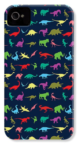 Colorful Mini Dinosaur IPhone 4s Case by Naviblue