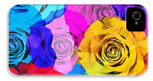 Colorful Roses Design IPhone 4s Case