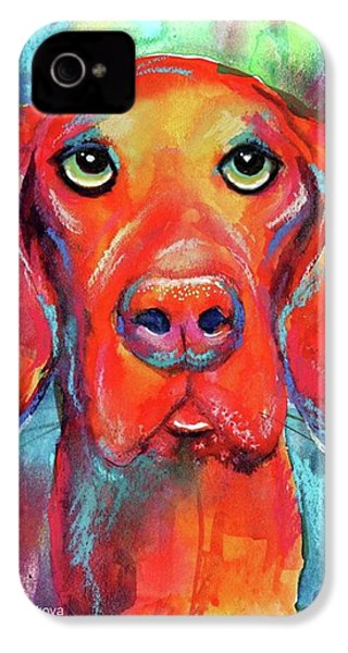 Colorful Vista Dog Watercolor And Mixed IPhone 4s Case