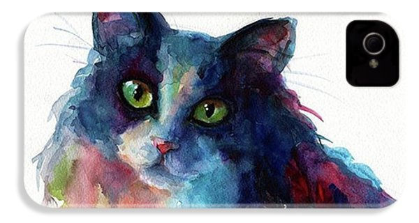 Colorful Watercolor Cat By Svetlana IPhone 4s Case