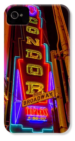 Condor Neon On Broadway IPhone 4s Case by Garry Gay