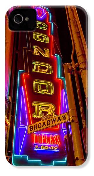 Condor Neon On Broadway IPhone 4s Case