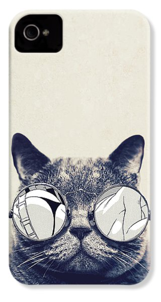Cool Cat IPhone 4s Case by Vitor Costa