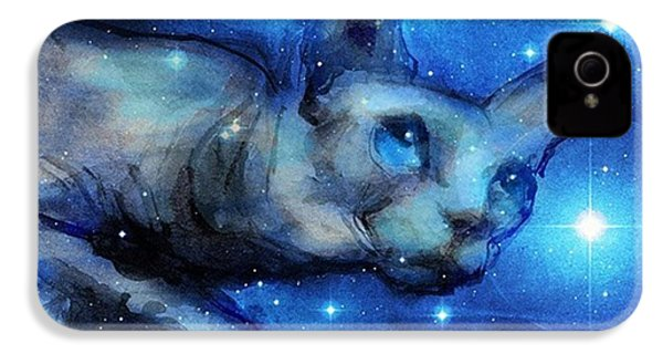Cosmic Sphynx Painting By Svetlana IPhone 4s Case