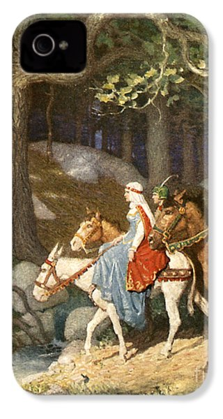 Country Folk Wending Their Way To The Tourney IPhone 4s Case by Newell Convers Wyeth