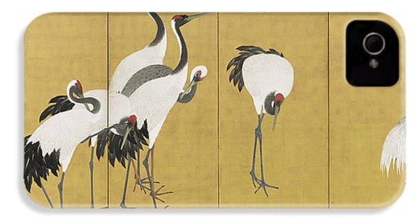 Cranes IPhone 4s Case by Maruyama Okyo