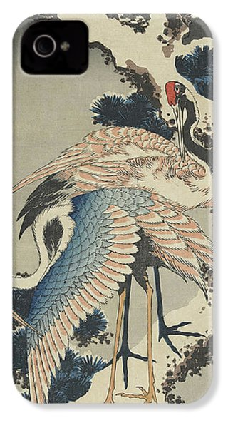 Cranes On Pine IPhone 4s Case by Hokusai