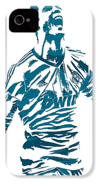 Cristiano Ronaldo Real Madrid Pixel Art 4 IPhone 4s Case