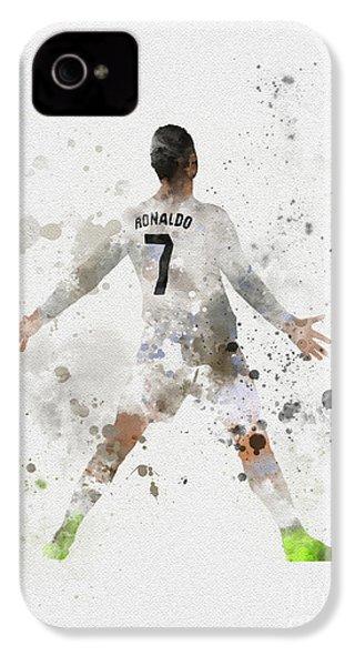 Cristiano Ronaldo IPhone 4s Case by Rebecca Jenkins