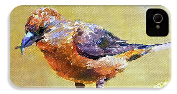 Crossbill IPhone 4s Case by Jan Hardenburger
