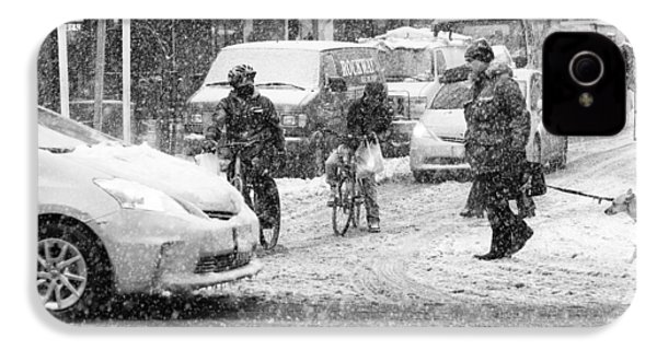 Crosswalk In Snow IPhone 4s Case by Dave Beckerman