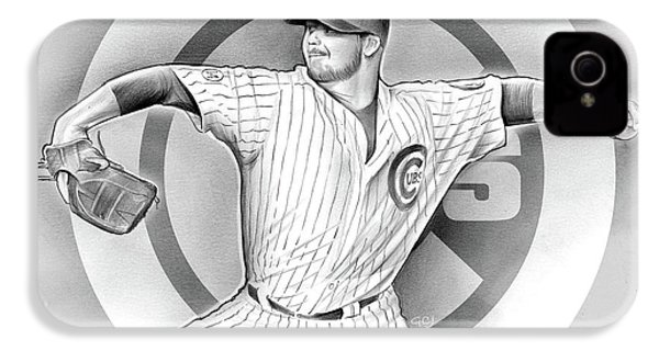 Cubs 2016 IPhone 4s Case by Greg Joens