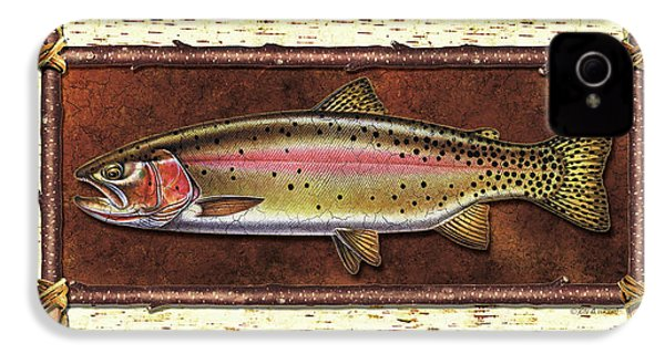 Cutthroat Trout Lodge IPhone 4s Case by JQ Licensing