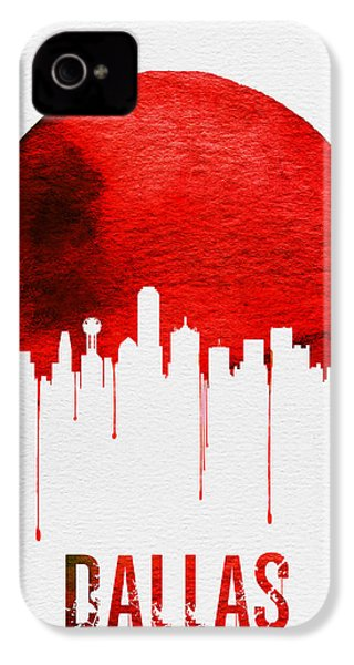 Dallas Skyline Red IPhone 4s Case by Naxart Studio