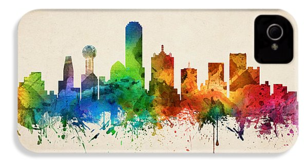 Dallas Texas Skyline 05 IPhone 4s Case by Aged Pixel
