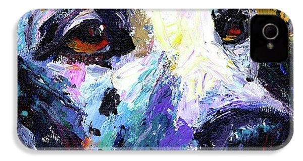 Dalmatian Dog Close-up Painting By IPhone 4s Case