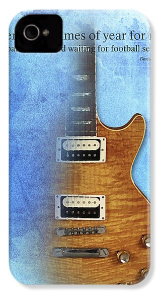 Darius Rucker Inspirational Quote, Electric Guitar Poster For Music Lovers And Musicians IPhone 4s Case by Pablo Franchi