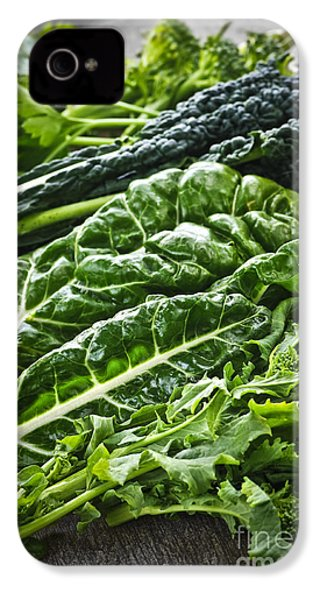Dark Green Leafy Vegetables IPhone 4s Case by Elena Elisseeva