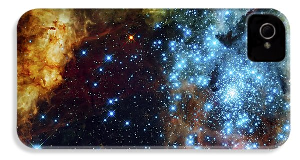 Deep Space Fire And Ice 2 IPhone 4s Case by Jennifer Rondinelli Reilly - Fine Art Photography