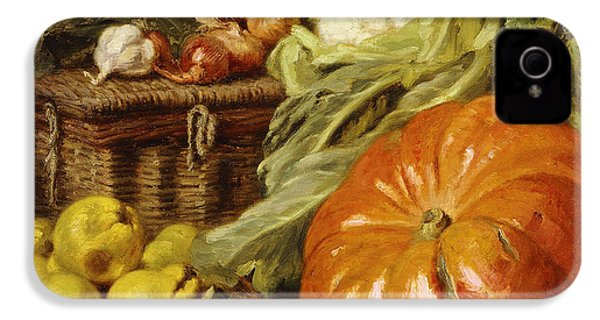 Detail Of A Still Life With A Basket, Pears, Onions, Cauliflowers, Cabbages, Garlic And A Pumpkin IPhone 4s Case by Eugene Claude