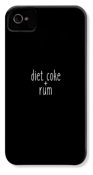 Diet Coke And Rum IPhone 4s Case by Cortney Herron