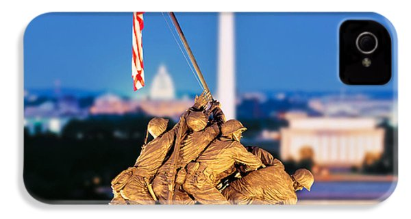 Digital Composite, Iwo Jima Memorial IPhone 4s Case by Panoramic Images