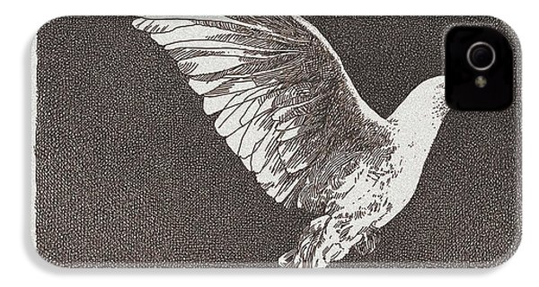 Dove Drawing IPhone 4s Case by William Beauchamp
