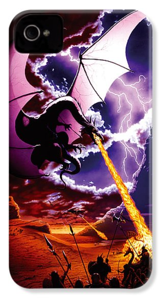 Dragon Attack IPhone 4s Case by The Dragon Chronicles - Steve Re