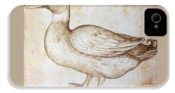 Duck IPhone 4s Case by Leonardo Da Vinci