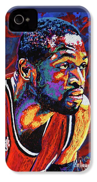 Dwyane Wade 3 IPhone 4s Case by Maria Arango