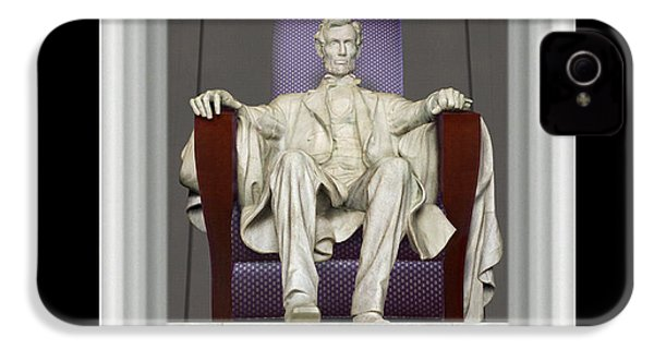 Ea-z-chair Lincoln Memorial IPhone 4s Case by Mike McGlothlen