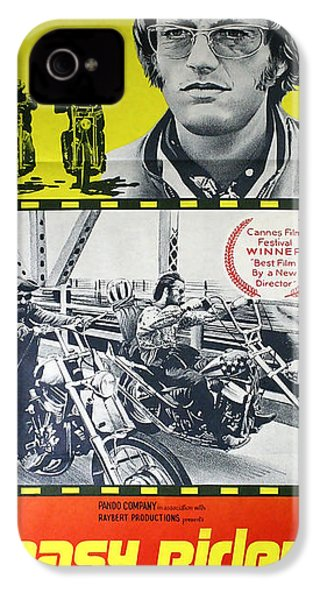 Easy Rider Movie Lobby Poster  1969 IPhone 4s Case by Daniel Hagerman