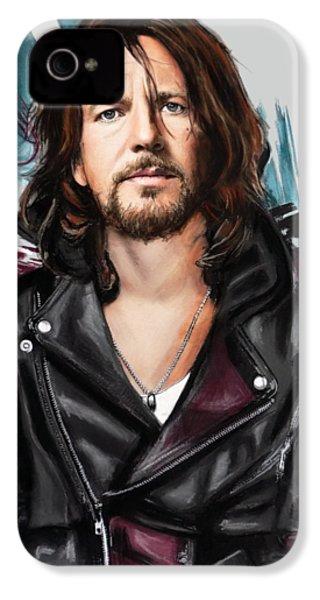 Eddie Vedder IPhone 4s Case by Melanie D