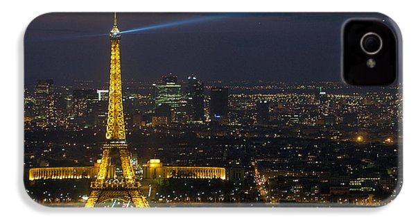 Eiffel Tower At Night IPhone 4s Case by Sebastian Musial