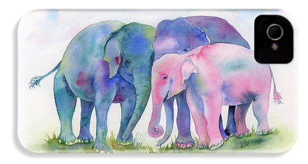 Elephant Hug IPhone 4s Case by Amy Kirkpatrick
