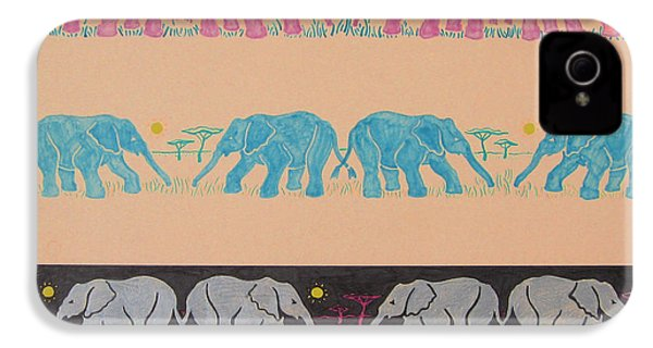 Elephant Pattern IPhone 4s Case by John Keaton