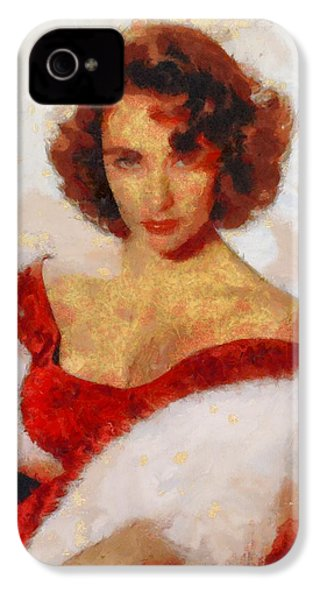 Elizabeth Taylor Actress IPhone 4s Case by Esoterica Art Agency