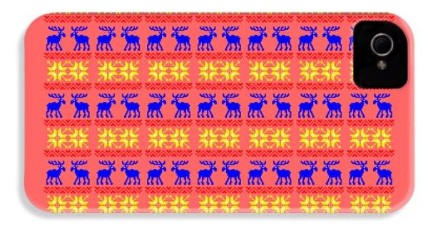 Elk Pattern Changeable Background  IPhone 4s Case by Sebastien Coell