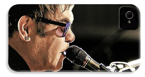 Elton John At The Mic IPhone 4s Case by Elaine Plesser