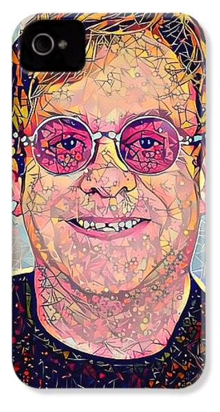 Elton John Triangles Portrait IPhone 4s Case