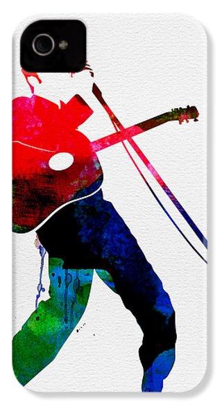 Elvis Watercolor IPhone 4s Case by Naxart Studio