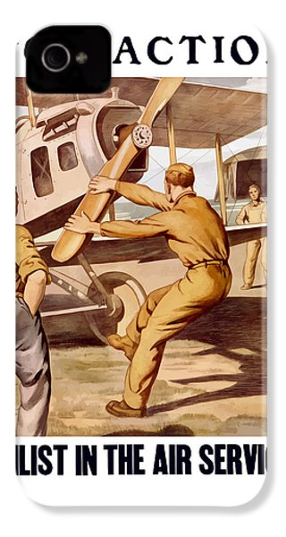 Enlist In The Air Service IPhone 4s Case by War Is Hell Store