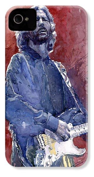 Eric Clapton 04 IPhone 4s Case by Yuriy  Shevchuk